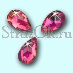 Стразы пришивные Vitrail Fuchsia, Drope Капля розе ярко-розовые купить недорого
