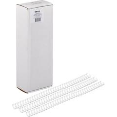 Пружины для переплета металлические Promega office 11.1 мм белые (100 штук в упаковке)