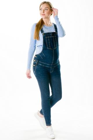 Комбинезон для беременных джинсовый 09021 синий