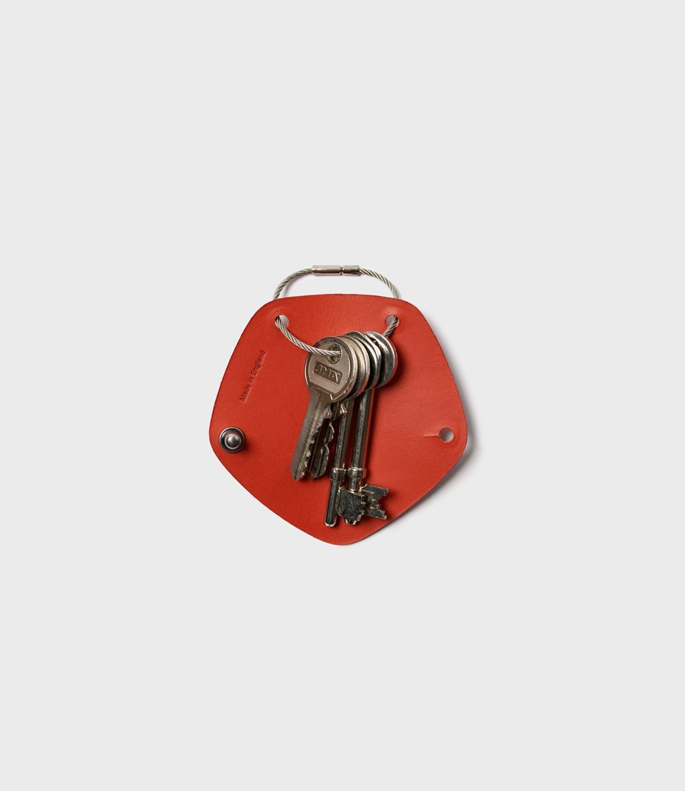 Campbell Cole Simple Key Wrap Chilli Red