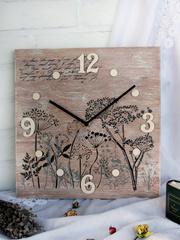 """Часы настенные """"Ботаника"""" светлые Zuli"""