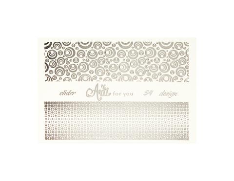 Фольга для дизайна ногтей цвет серебро 54 купить за 120руб