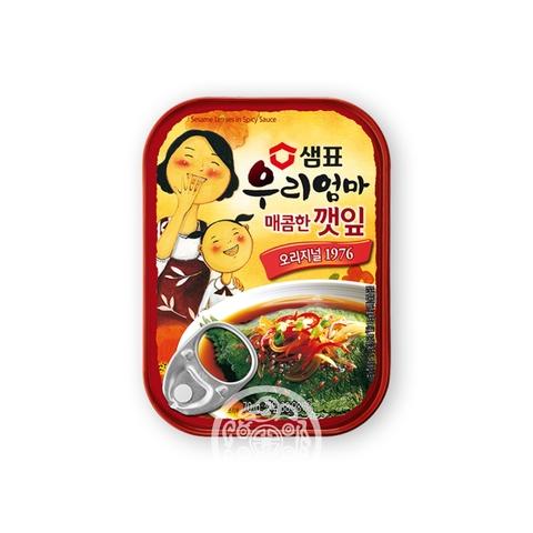 Листья кунжута в остром соусе 70г Sempio Foods Company Корея