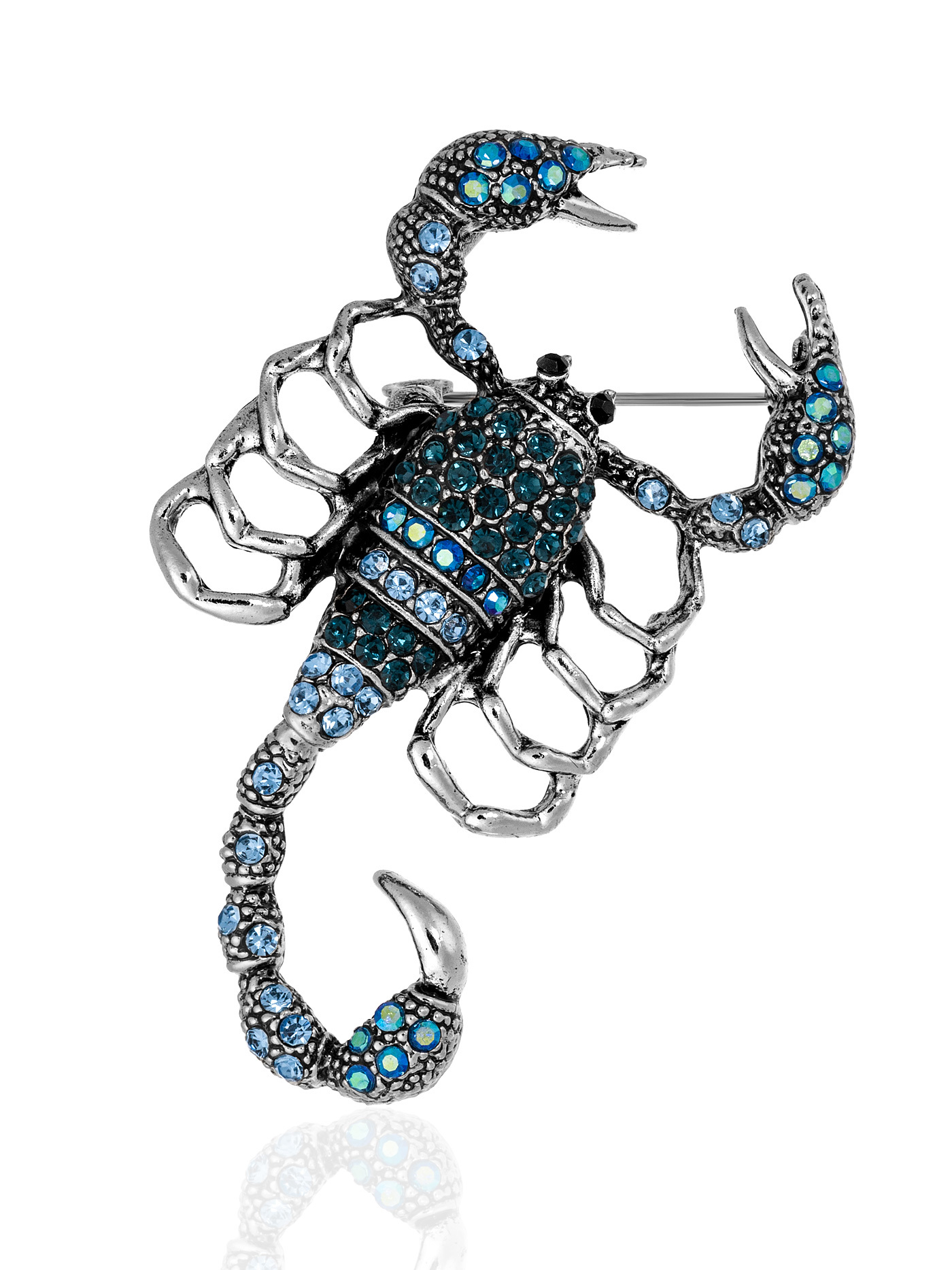 Брошь Скорпион с кристаллами