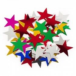 Конфетти звезды ассорти 17гр, звездочки 1,5 см