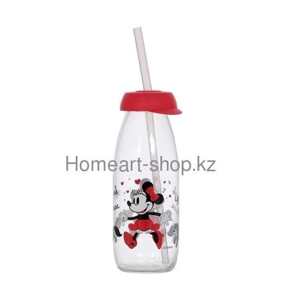 Бутылка детская с трубочкой minnie mouse 500 мл