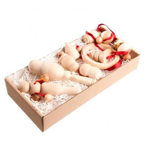 Подарочный набор погремушек Неокрашенный