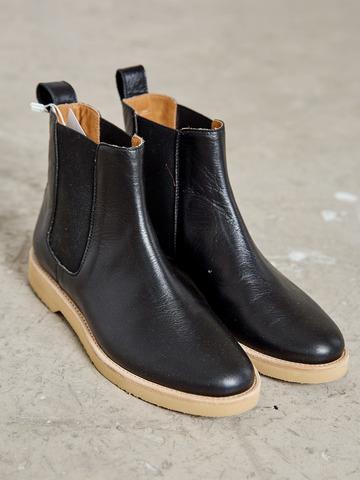 Ботинки Челси из натуральной кожи черный