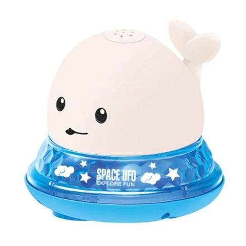 Игрушка для ванной Кит с фонтаном 2 в 1 белый