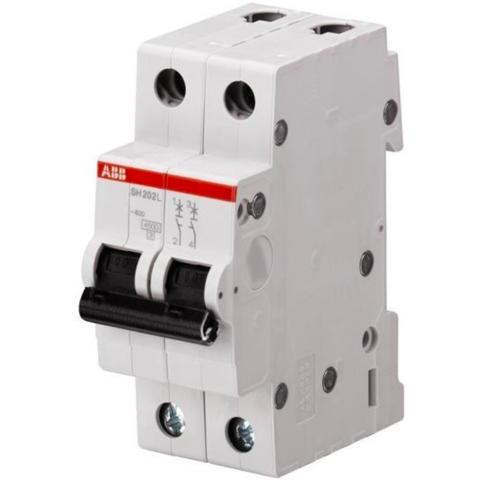 Автоматический выключатель 2-полюсный  50 A, тип C, 6 кА SH202 C50. ABB. 2CDS212001R0504