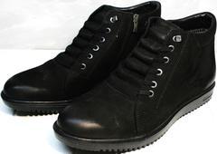 Ботинки мужские зимние кожаные классические Luciano Bellini 71783 Black.