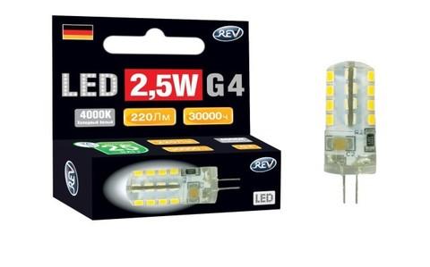 Лампа светодиодная 2,5W холодный свет 220V G4 REV
