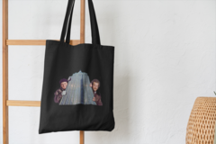 Сумка-шоппер с принтом Один дома, Гарри и Марв (Home Alone) черная 002