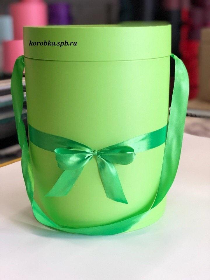 Шляпная коробка 22,5 см Цвет:  зеленый . Розница 390 рублей .