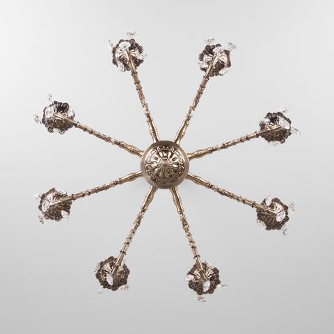 Классическая люстра с хрусталем 10102/8 античная бронза/прозрачный хрусталь Strotskis