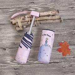 Миниатюрный зонт с защитой от УФ, 6 спиц, Япония, с Маленьким Принцем (розовый)