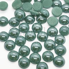 Купить оптом термоклеевой полужемчуг зелено-голубой Aquamarine