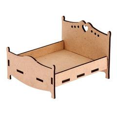 Кровать кукольная из фанеры