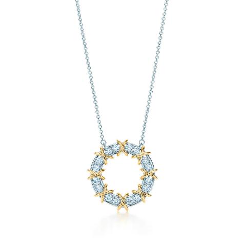 70533- Подвеска-кольцо из серебра с позолотой Sixteen Stone
