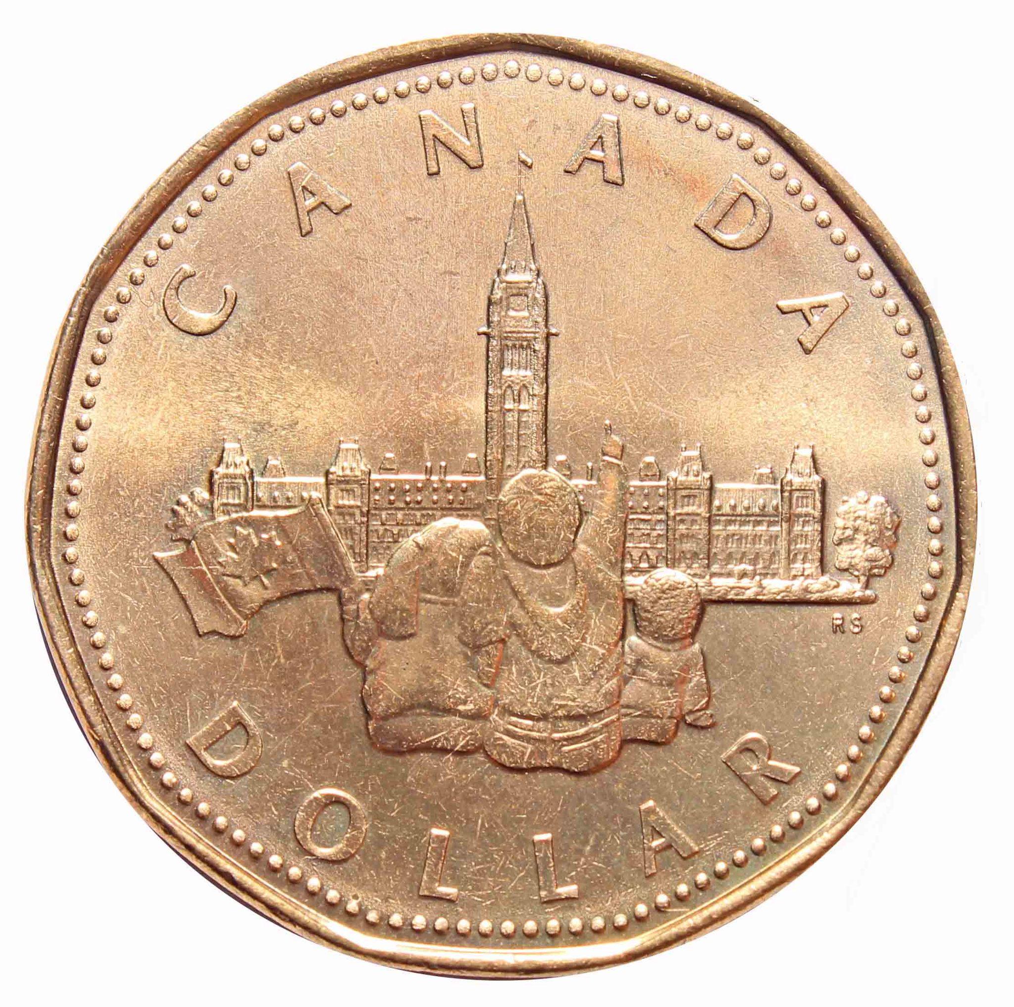 "1 доллар ""125 лет конфедерации. Парламент"" 1992 год UNC"