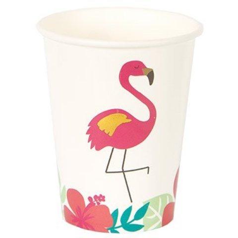 Стакан бум ALOHA Фламинго 250мл 8шт/G