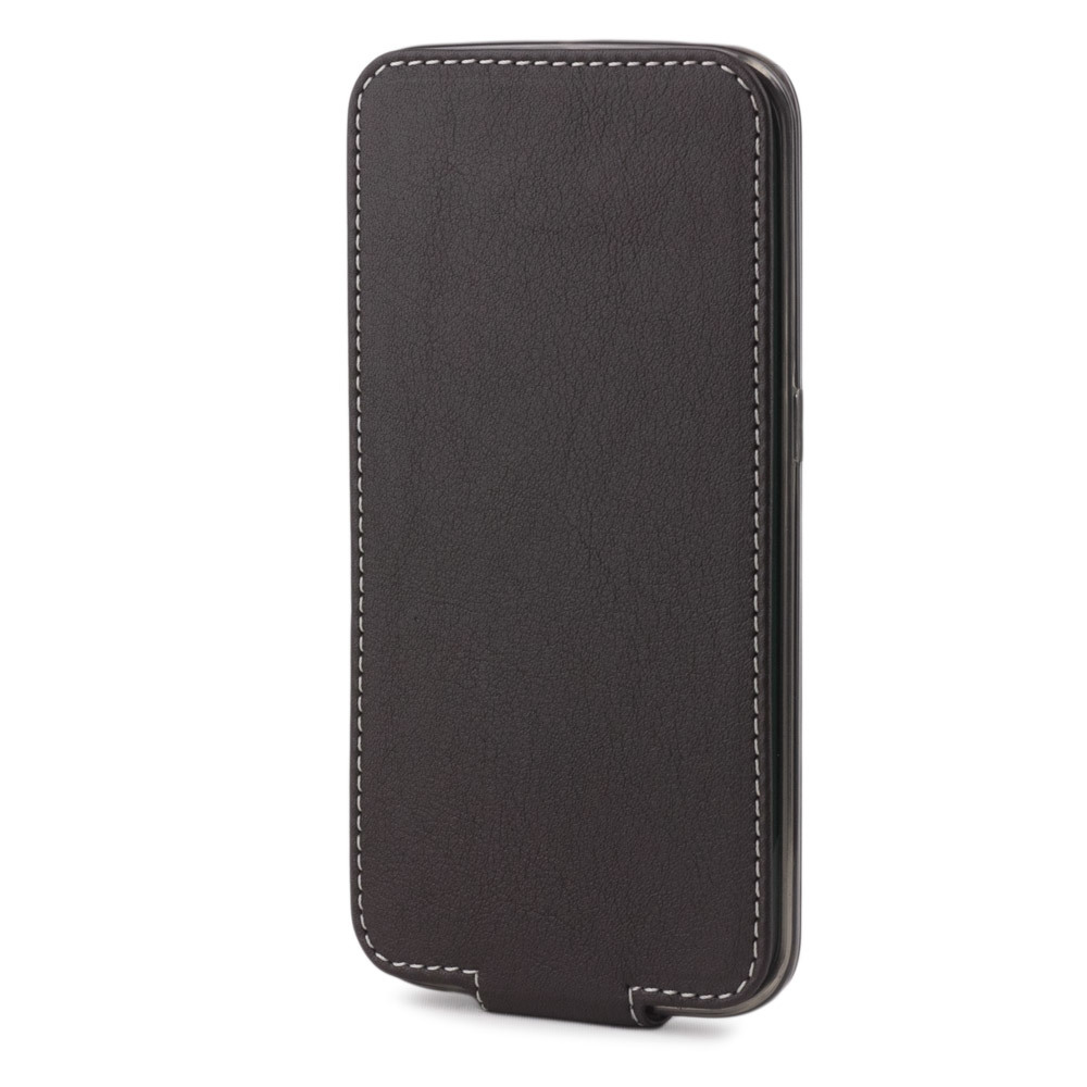 Чехол для Samsung Galaxy S6 edge из натуральной кожи теленка, темно-коричневого цвета