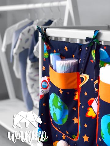 органайзер на дитяче ліжечко з космічним малюнком фото