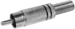 Разъём штекер металл под винт RCA(тюльпан)