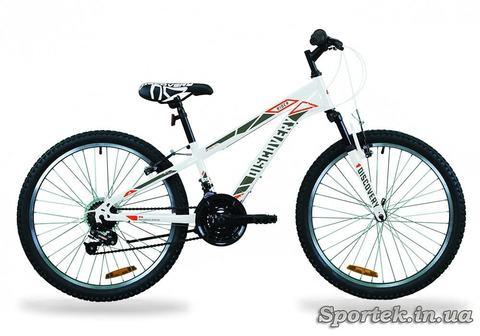 Гірський підлітковий велосипед Discovery Rider AM Vb 2020 року - біло-червоний з сірим