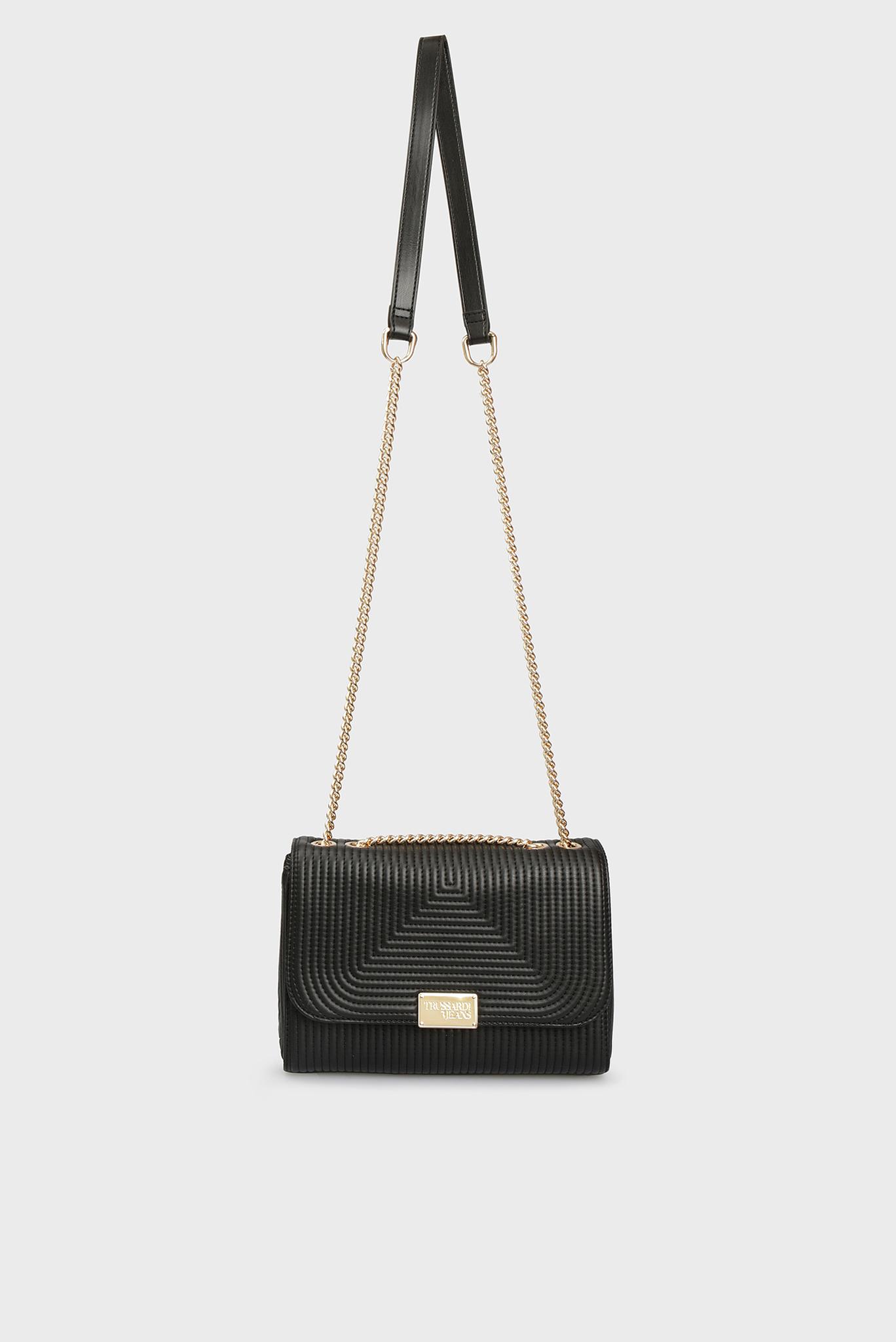 Женская черная сумка через плечо FRIDA Trussardi Jeans