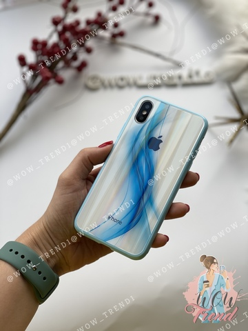 Чехол iPhone X/XS Polaris smoke Case Logo /blue/