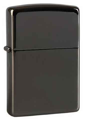 Зажигалка Zippo с покрытием Black Ice, латунь/сталь, чёрная, глянцевая, 36х12х56 мм123