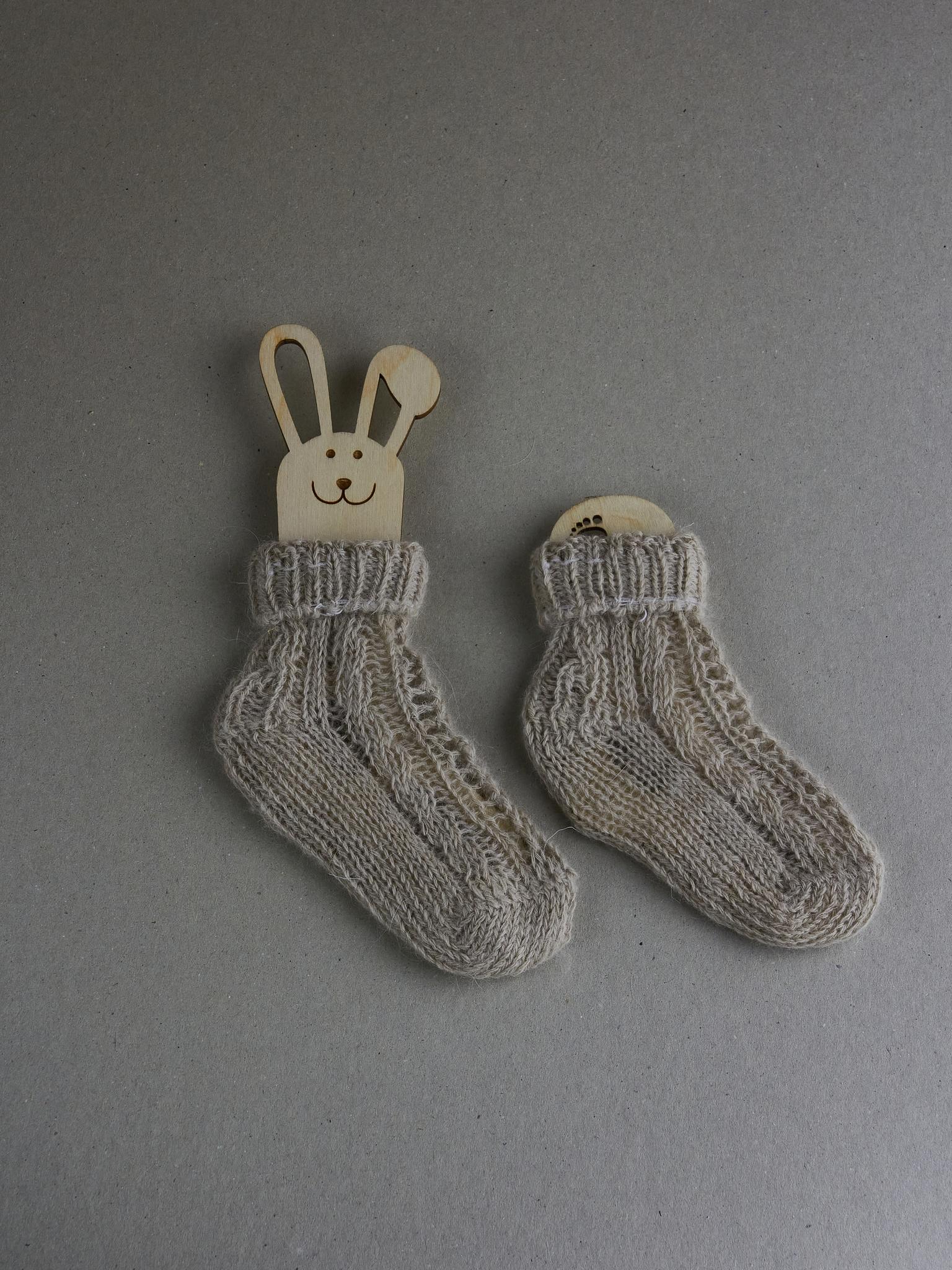 Детские носочки вязаные из ангоры и кашемира
