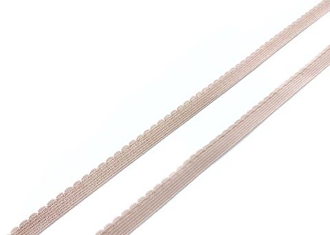 Резинка отделочная серебристый пион 9 мм (цв. 168)