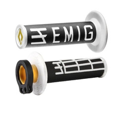 Грипсы ODI EMIG V2 Lock-On H36EMBW Черный/Белый 4 и 2-х тактных