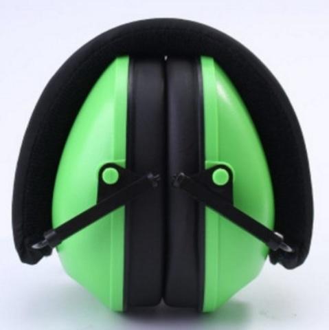 Противошумные наушники зеленые