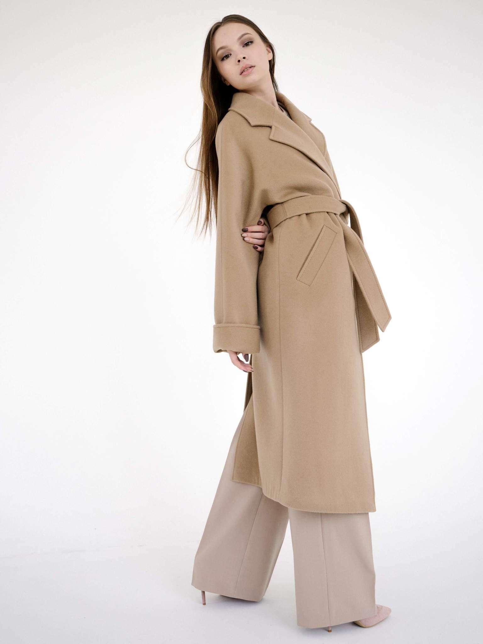 Пальто-халат свободного кроя