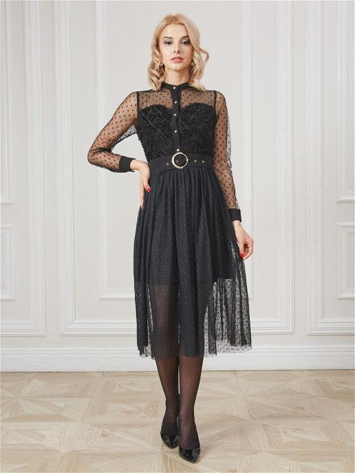 Платье 19060C черный