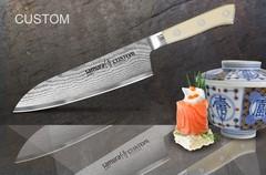 SCU-0095 Нож кухонный стальной Сантоку Samura by Custom