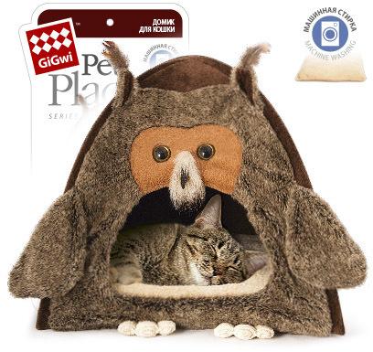 """GiGwi GiGwi Домик для кошек и собак """"Сова"""" 40x45 см be13c445-1e6c-11e5-80c7-00155d298300.jpg"""