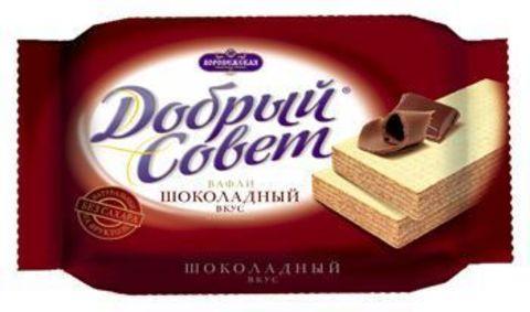 Вафли Добрый совет Шоколадные на фрукт 73г