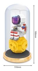 Конструктор в колбе Wisehawk Космонавт на луне 703 детали NO. 2684 Astronaut on the moon Keep Joy Series