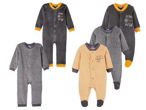 Комбинезон для мальчика темно-серый с оранжевыми пинетками Lupilu