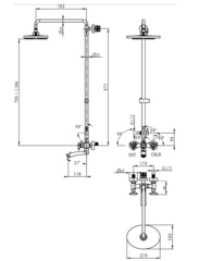 Душевая система KAISER Trio 57188 Bronze схема