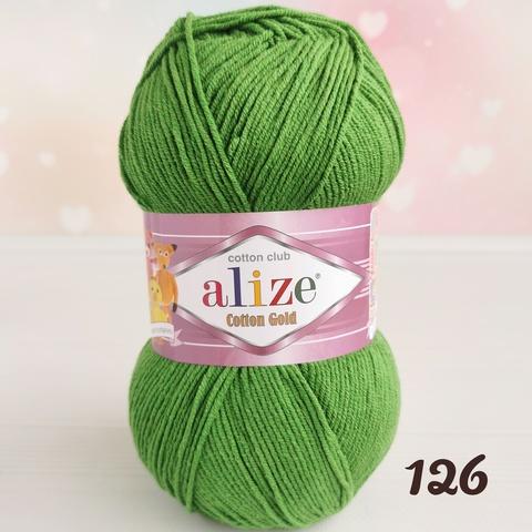 ALIZE COTTON GOLD 126, Зеленая трава