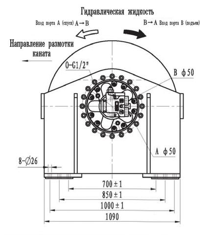 Эвакуационная лебедка IYJ66-200-229-36-ZPN