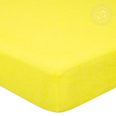 Простынь на резинке Лимон