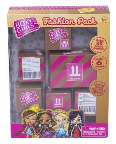 Набор из 6 посылок с сюрпризом для кукол Boxy Girls
