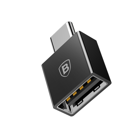 Переходник Baseus Exquisite Type-C Male to USB Female Adapter Converter Black