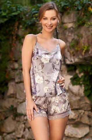 Пижама с шортиками Mia Amore Gracia (70% натуральный шел